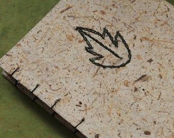 Leaf Coptic Stitch Sketchbook