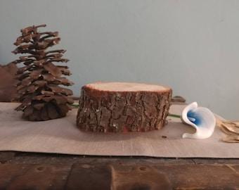 Rustic Wedding Centerpiece - Natural Wood Centerpiece