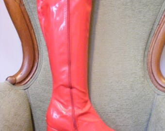 Women's Go Go Boots Red Size 10