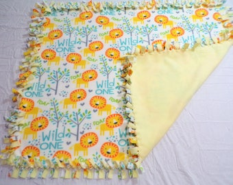 Lion Fleece Baby Blanket