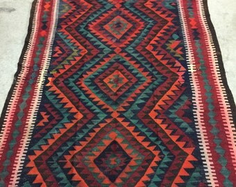 Vintage Turkish Goz Kilim Room size