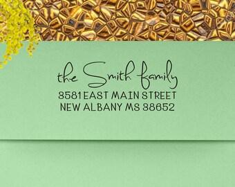 Address Stamp, Return Address Stamp, Custom Address Stamp, Personalized Stamp, Self Inking Address Stamp, Wedding Invitation - 106
