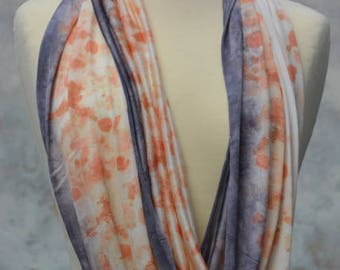 Loop, Snood, Seidenloop, orange, silk, wool, Jersy, eucalyptus, handmade in the FilzHaus16