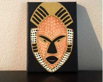 African Tribal Mask Canvas