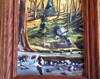 Mountain stream painting