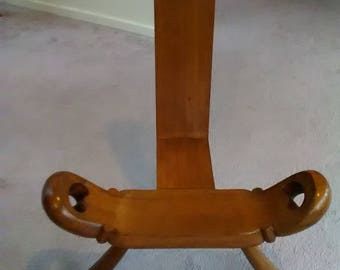 antique, vintage, birthing chair