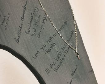 Key to my heart - key charm on a silver necklace