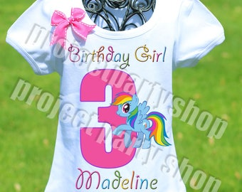 My Little Pony Birthday Shirt, Rainbow Dash Birthday Shirt