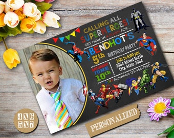 Superhero Invitation / Superhero Birthday / Superhero Birthday Invitation / Superhero party / Superhero Printable / Superhero-NR346