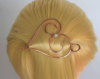 Copper Hair Barrette Bun Holder Hair Slide Hair Pin Hair Stick Hair Sticks Hair Clip Metal Hair accessories Shawl pin Scarf brooch scarf