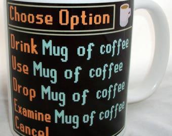 Computer Gaming Choose Option Design Coffee Mug