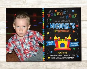 Bounce House Birthday Invitation - Bounce House Birthday Party - Bounce House Birthday Party Invite - Boys Bounce House Invite
