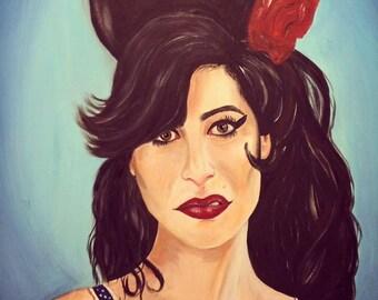 Large Amy Winehouse Painting