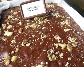 Milk Chocolate Walnut Handmade Fudge Made in Vermont 1 lb pound