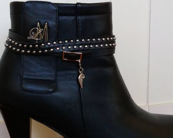 Black Studs Boot Belt