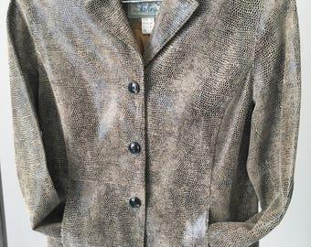 Faux python vintage jacket