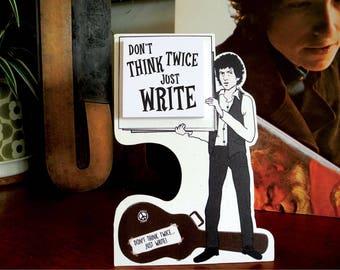 Subterranean Post It Blues Bob Dylan inspired memo pad