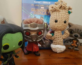 Baby Groot Amigurumi Crochet Plush Toy