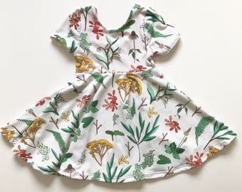 Floral Twirl Dress fit and flare dress toddler girl baby girl dress