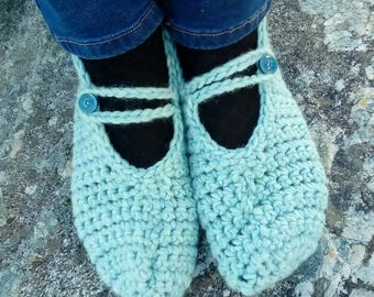 Crocheted wool socks