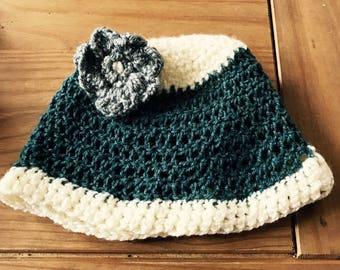 Cute crochet cap / hat with flower