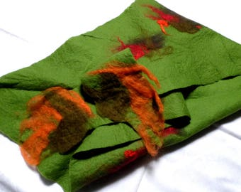 Felt cloth green-Orange