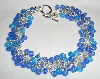 Shaggy Loops Matte Blue Bracelet