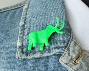 Green Mammoth Lapel Pin
