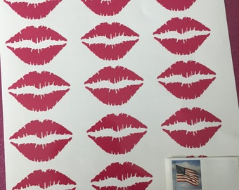 Lip Decals, Pretty Lips, Vinyl Decals, LipSense, Lip Stickers, Kiss Decal, Glitter Lip Stickers, Senegence, LimeLight, Younique, Planner