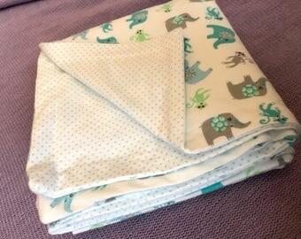 Elephant Baby Blanket receiving/swaddle