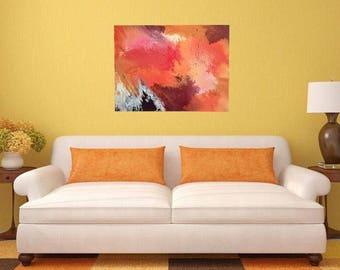 "Large original abstract oil painting - ""Lava"" - 60cm x 80cm"