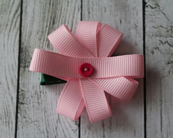 Light Pink Floral Bow