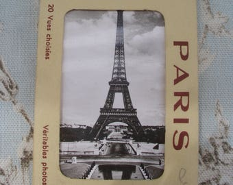 20 Original Vintage French 1950's Souvenir Black & White Photographs and Presentation Wallet,Paris,France,Eiffel Tower,Arc de Triomphe