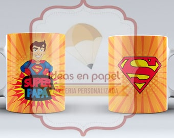 Design of Super Dad mug