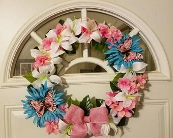 Pretty Spring Door Wreath