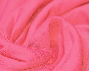 Coral Pink Jersey (240gsm, 94/6 Cotton/Elastane) *UK*