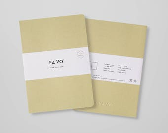FA VO Notebook Olive - 100% Recycled Notebook (205 x 145 mm)