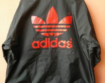 Vintage Adidas Big Logo Button Jacket  Rare