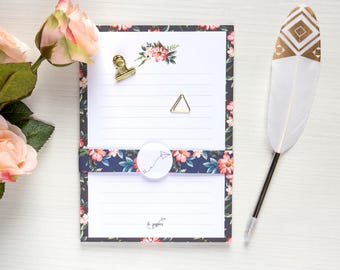 Floral themed Notes