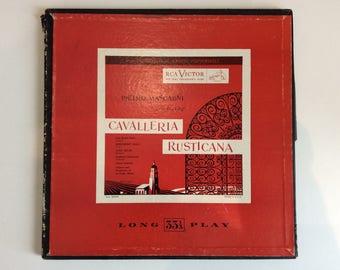 1950's RCA Victor - Cavalleria Rusticana - Pietro Mascagni 33rpm Vinyl record. Eccezionale!