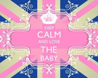 Baby Shower invitation British Union Jack theme
