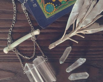 Bobcat quartz necklace