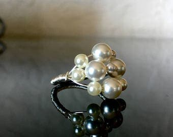 Large Pearl Statement Ring