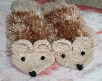 free shipping | Mittens Jolly Jerzy | Animal Mittens | Handknitted Women/Girls Mittens | Cute Mittens