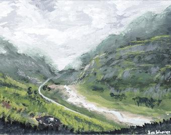 "Highland Glen - Original Painting, Acrylic on Canvas, 6""x8"""