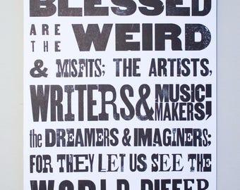Black Letterpress Poster