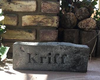 """Handmade gray brick- """"Kriff"""" (Star Wars)"""