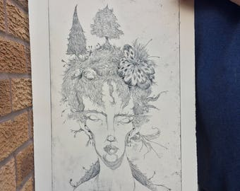 Nature's Touch - Etching Print