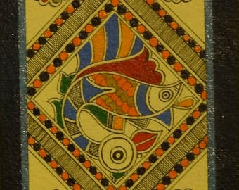 Madhubani Painting - Fish
