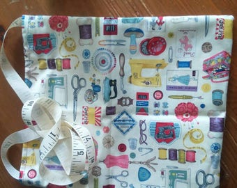 Lovely sewing themed bag